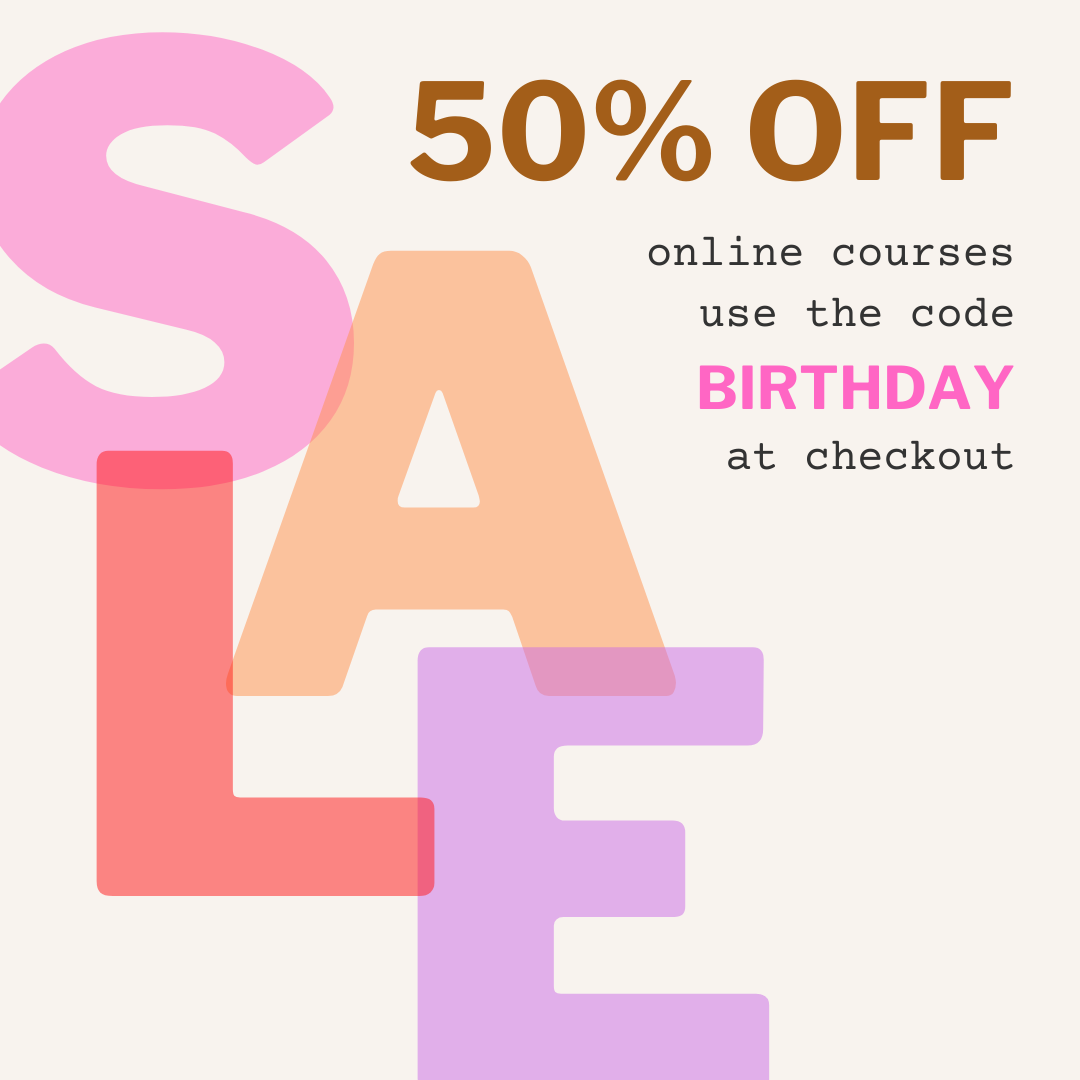 🌛 50% OFF all courses BIRTHDAY SALE