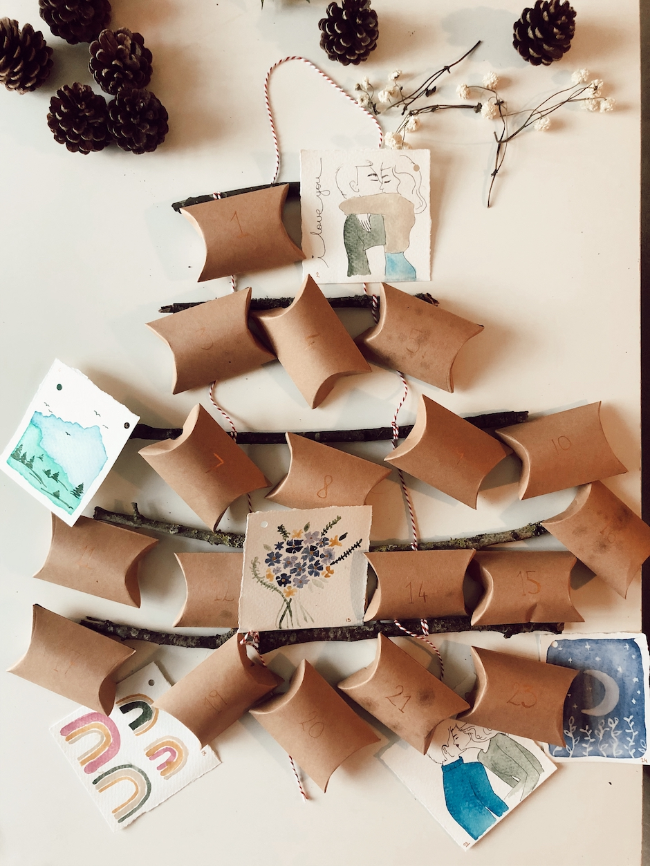 Make your own christmas advent calendar with me!
